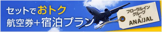 お得なANA/JAL航空券付宿泊プラン